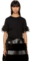 Noir Kei Ninomiya Black Ruffle Sleeve T-shirt