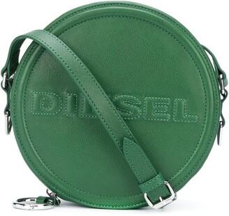 Diesel Embossed logo round crossbody bag