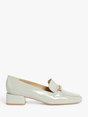 John Lewis & Partners Astrid Patent Loafers, Grey
