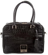 Anya Hindmarch Embossed Leather Carker Satchel