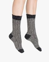 Hue Tweed Twist Ribbed Boot Sock