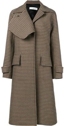 Victoria Beckham Check Flap Lapel Coat