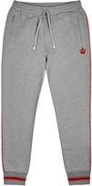Dolce & Gabbana Grey Crown-embroidered Cotton Jogging Trousers