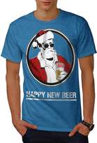 Happy New Beer Christmas Men XXXL T-shirt | Wellcoda