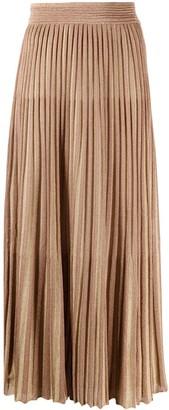 Missoni Metallic-Threading Pleated Skirt