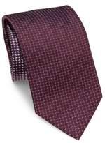 Brioni Wheel Printed Silk Tie