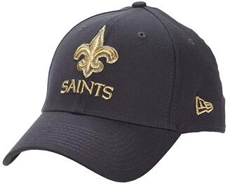 New Era NFL Stretch Fit Graphite 3930 -- New Orleans Saints (Graphite) Baseball Caps
