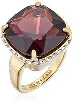 Cole Haan Gold/Amethyst Large Cushion Cut Bezel Ring, Size 8