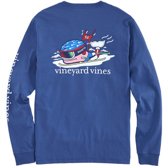 Vineyard Vines Ski Race Whale Long-Sleeve Pocket Tee