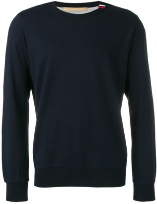 Eleventy navy knitted sweater