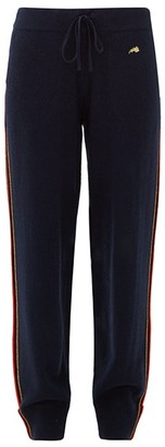 Bella Freud Suzuka Cashmere-blend Track Pants - Womens - Navy