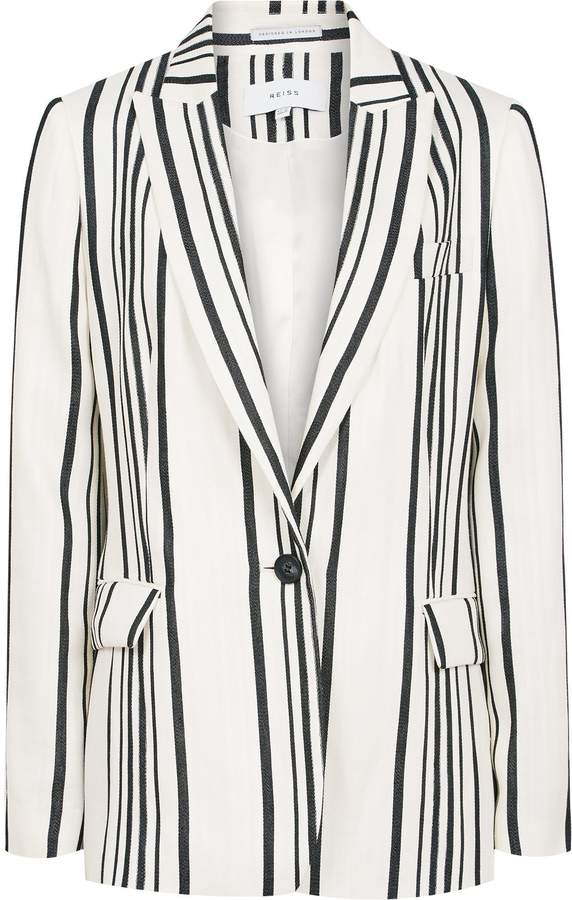 Reiss Rodeo Jacket - Tailored Blazer in White/black