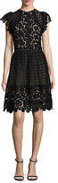 Rebecca Taylor Cotton Lace A-Line Dress