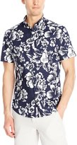 Original Penguin Men's Short Sleeve Hawaiian Button Down Shirt