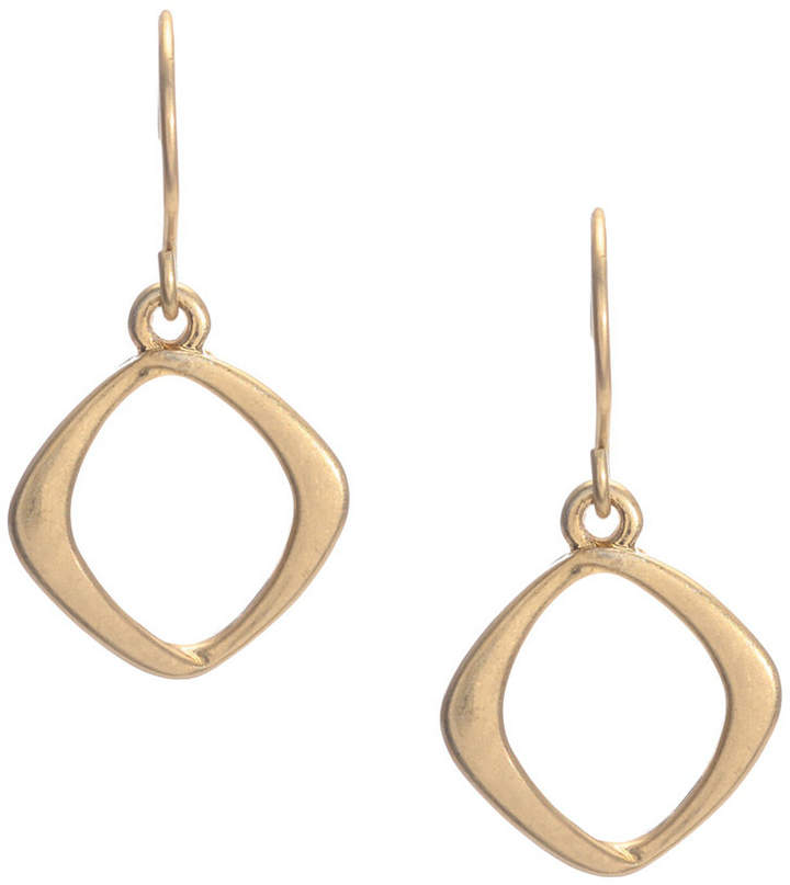 Kenneth Cole New York Earrings, Gold-Tone Diamond Drop