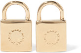Marc by Marc Jacobs Padlock gold-tone earrings
