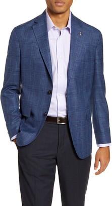 Ted Baker Konan Trim Fit Plaid Wool Blend Sport Coat