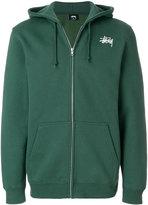 Stussy logo print hoodie