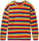 The Elder Statesman Sunset Striped Cashmere Sweater