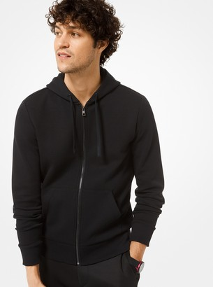 Michael Kors Cotton-Blend Zip-Up Hoodie