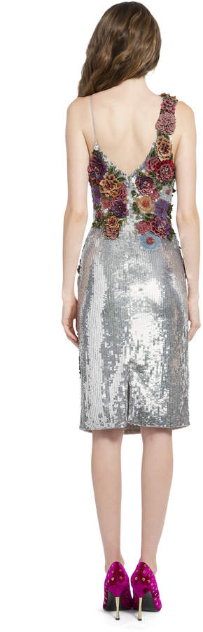 3eccb347761 Alice And Olivia Silver Sequin Dress - ShopStyle