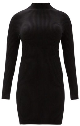 Wolford Rib-knitted High-neck Dress - Womens - Black