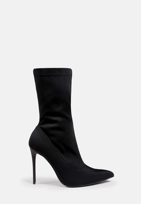 Missguided Black Stiletto Ankle Boots