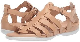 Ecco Flash Strappy Sandal (Black Cow Nubuck) Women's Sandals