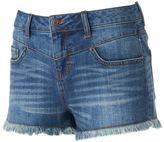 Mudd Juniors' High Waist Drop Yoke Jean Shortie Shorts
