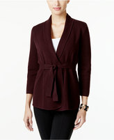 Alfani Belted Cardigan, Only at Macy's