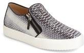 Giuseppe Zanotti Men's Embossed Side Zip Sneaker
