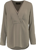 By Malene Birger Draped crepe de chine blouse
