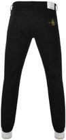 Stone Island Regular Tapered Jeans Black