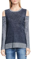 Two by VINCE CAMUTO Cold Shoulder Color Block Sweater