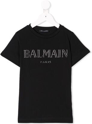 Balmain Kids foiled logo T-shirt