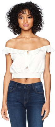 Somedays Lovin Women's Bianco Embroidered Top