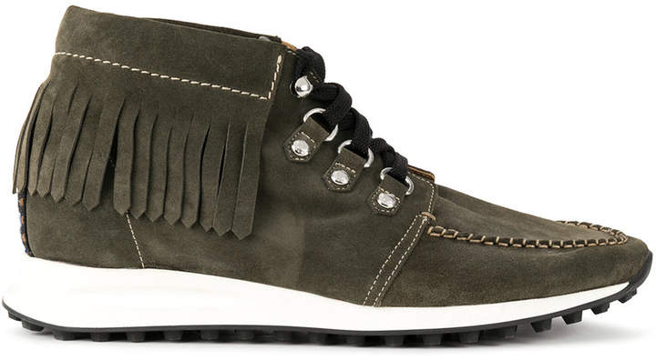 DSQUARED2 fringed hi-top sneakers