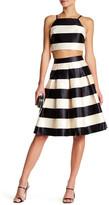 Ark & Co Pleated Striped Skirt