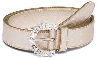 Prada Metallic Crystal-Embellished Belt