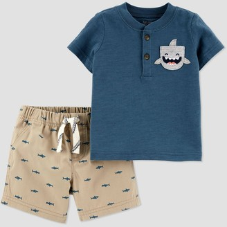 Just One You Made By Carter's Baby Boys' 2pc Shark Top & Bottom Set - Just One You® made by carter's