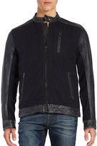 Lucky Brand Mixed Media Moto Jacket