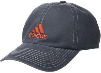 adidas Ultimate Relaxed Adjustable Cap (Onix/Glory Amber Orange) Baseball Caps