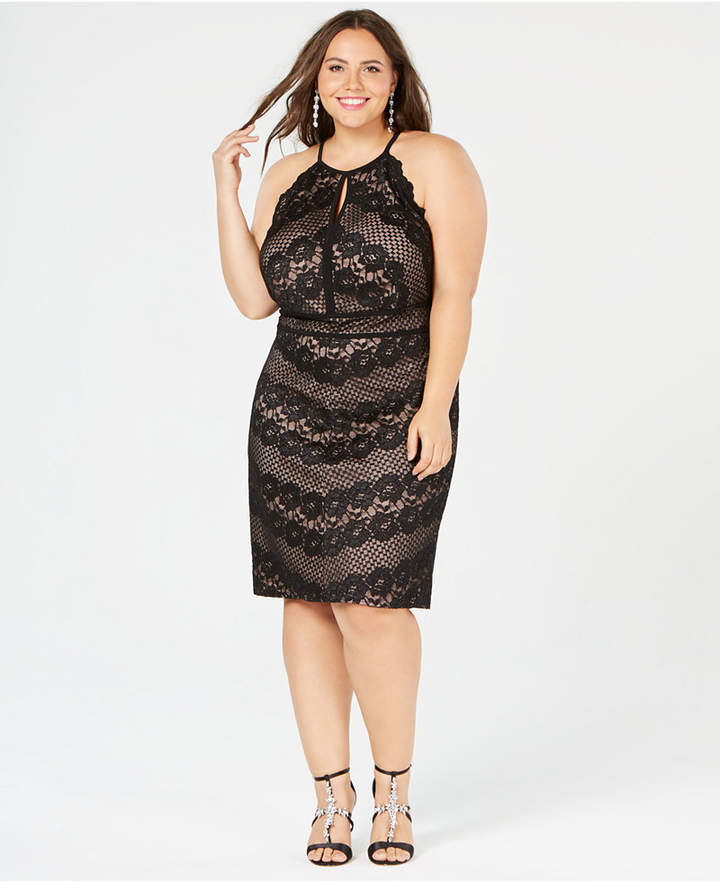 & Company Trendy Plus Size Lace Dress