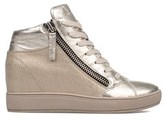 Crime London Women's Silver/gold Leather Hi Top Sneakers.