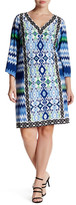 Maggy London Chevron Ikat Shift Dress (Plus Size)