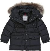 Moncler New Seneca Nylon Down Jacket W/ Fur Trim