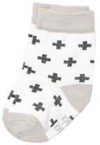Melton Laté Uni Cross Baby Socks