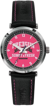 Freegun Unisex Analogue Quartz Watch with Leather Strap EE5238