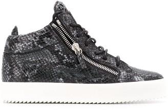 Giuseppe Zanotti High-Top Python Sneakers