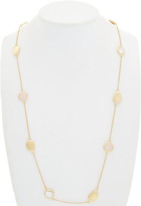 Rivka Friedman 18K Gold Clad Quartz & Crystal Station 36In Necklace